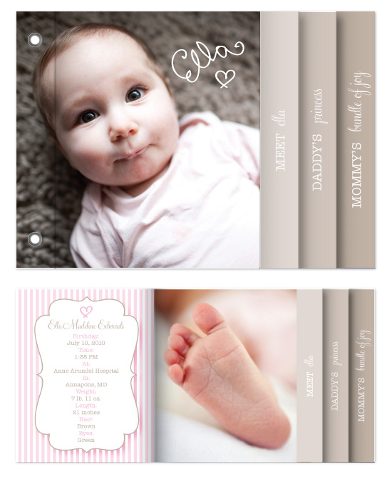 minibook cards - Little Princess by Bricolage Designs