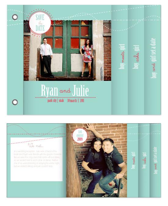 minibook cards - Boy Meets Girl by Ashley Porter