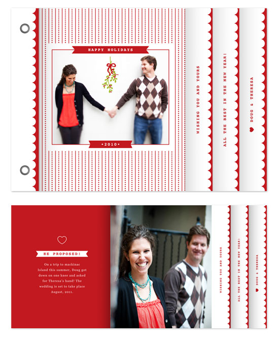 minibook cards - Polka Stripes by Snow and Ivy