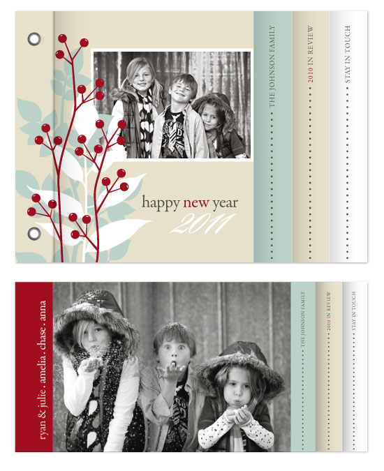minibook cards - Winter Berries by Jill Means