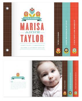 Mod Floral Minibook Cards