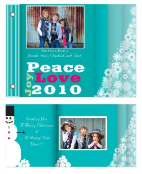 Peace, Love, and Joy Minibook Cards