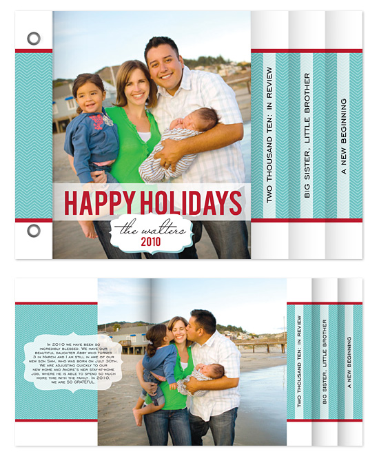 minibook cards - Classic Holiday by Heidi Stock Design