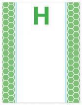 Hexagons and Stripes by Lauren Sanders Design