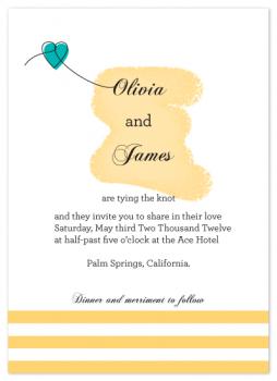 Tying the love Wedding Invitations