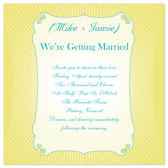 wedding invitations - Bursting with Love by Jennifer Stein of PS Designs Etc.