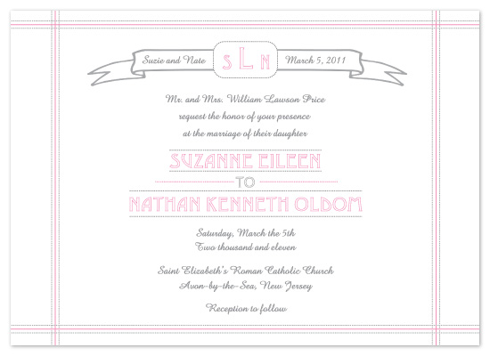 wedding invitations - Sugar Sweet by Kathleen Burlew