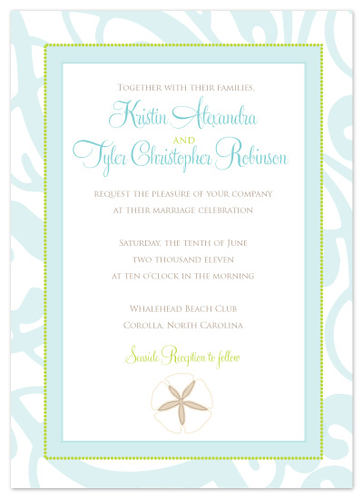 wedding invitations - Sweet Seaside I Do
