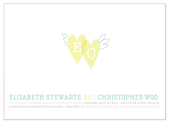 wedding invitations - winged love by Lauren Fasnacht