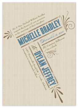 Rustic Slant Wedding Invitation