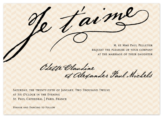wedding invitations - French Love by Lehan Veenker