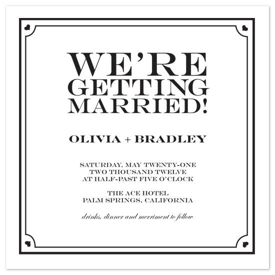 wedding invitations - Sky Boulevard by Gerard Palomo