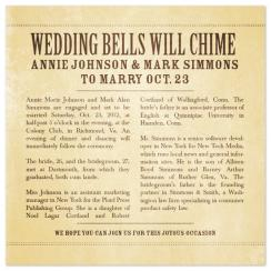 Wedding Bells Will Chime