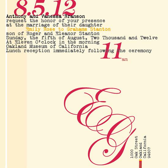 wedding invitations - vintage minimalist mongram by bernee lee