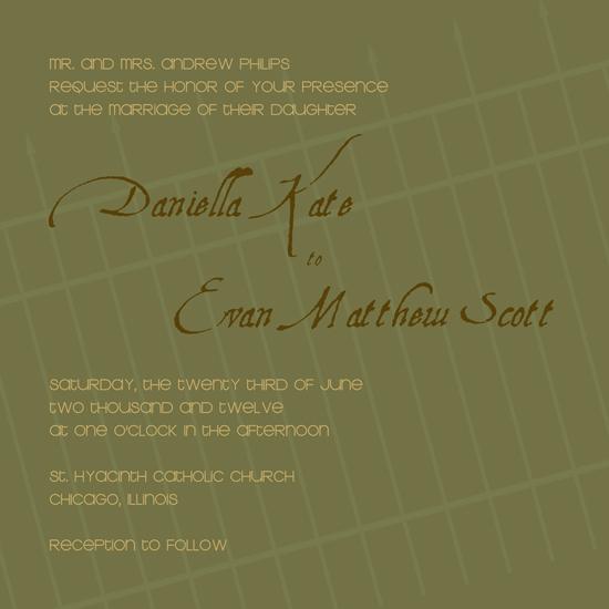 wedding invitations - Picket by Rosemary Maritote