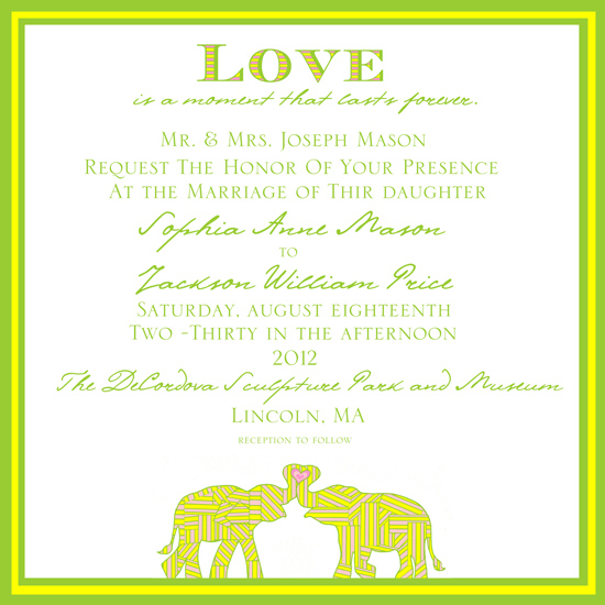 Elephant Wedding Wedding Invitations Elephant