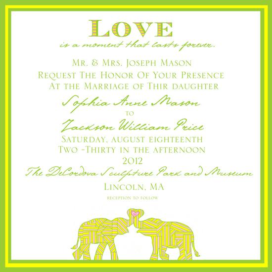 Elephant Wedding Invitations Wedding Invitations Elephant