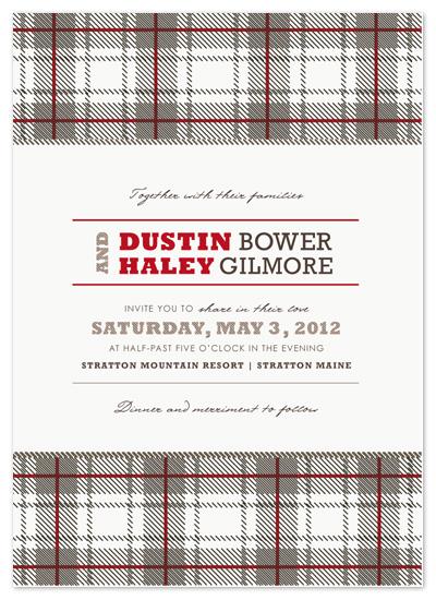 wedding invitations - Cabin Plaid