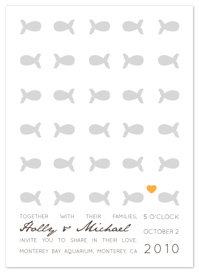 wedding invitations Only fish for me by Ling