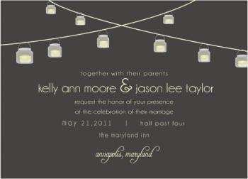 String of Love Wedding Invitations