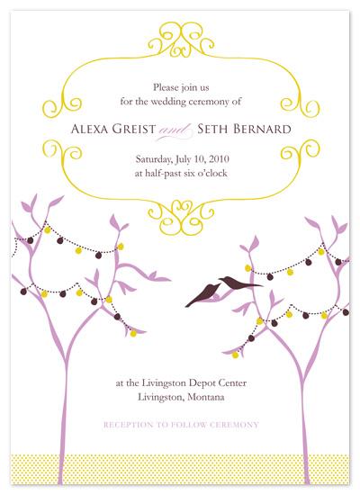 wedding invitations - lavender_lovebirds by Ashley Moura