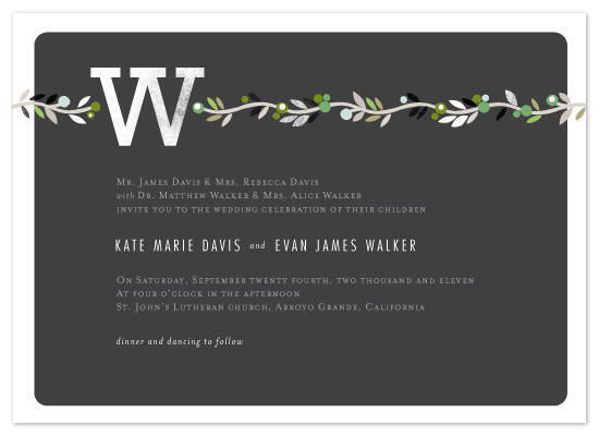 wedding invitations - Modern Chalkboard by Alethea and Ruth