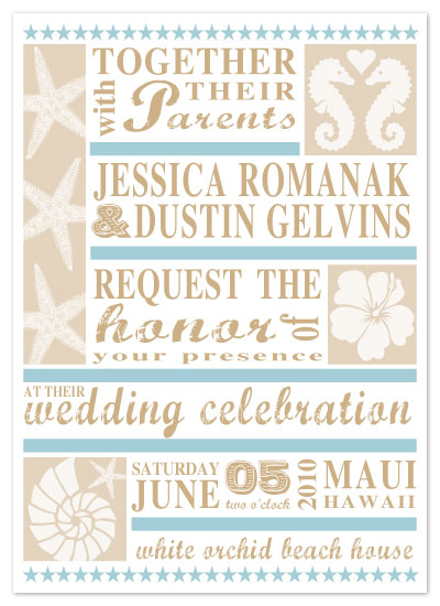 wedding invitations - seaside by Sweet Sonoma Company