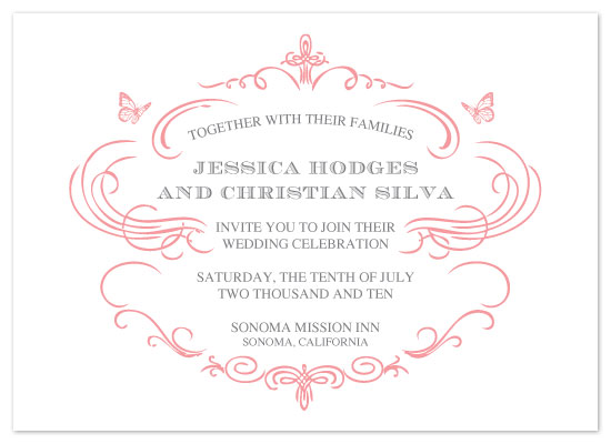 wedding invitations - parisian butterflies by Sweet Sonoma Company