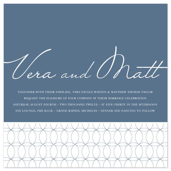 wedding invitations - Circular Sequence by Amy Kuchan