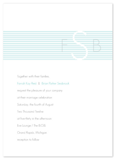 wedding invitations - Multi Line Monogram by Amy Kuchan