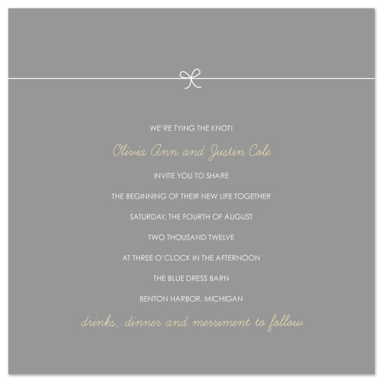 wedding invitations - Petite Knot by Amy Kuchan