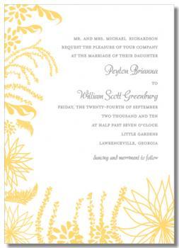 Garden Lust Wedding Invitations