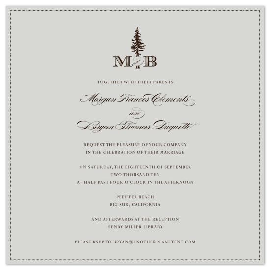wedding invitations - classic_forest_monogram by Ashley Moura