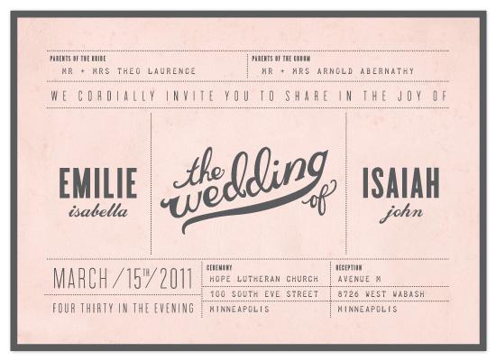wedding invitations - Mr. Laurence by Moglea