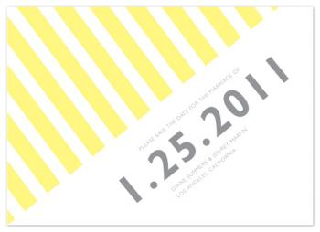 Striped Save the Date Cards