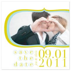Retroish Save the Date Cards