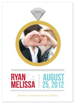 Big Ring Save the Date Cards