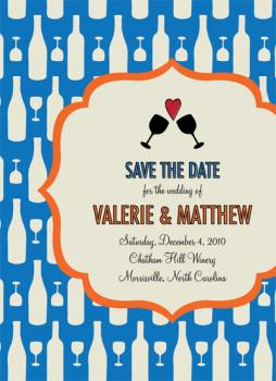 Pattern Party Save the Date Cards