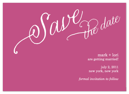 save the date cards - Spring Fling by Jen Gebrosky
