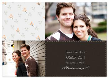 Modern Print  Save the Date Cards