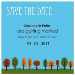 10 fall trees save the day card Save the Date Cards