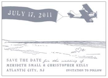 date in the sky Save the Date Cards