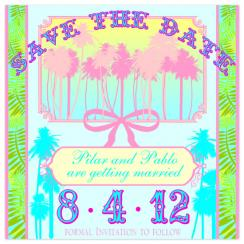 Miami Romance Save the Date Cards