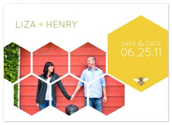 Honeycomb Happiness Save the Date Cards