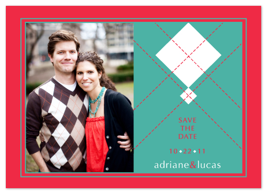 wedding stationery - Argyle Sweater