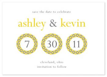 Mosaic Circles Save the Date Cards