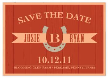 Barn Siding Save the Date Cards