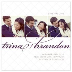 New York WInter Pillow Save the Date Cards