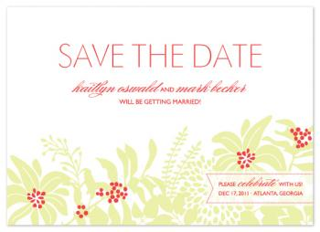 Winter Foliage Save the Date Cards
