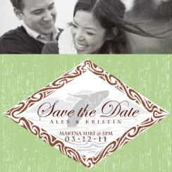 Makena Surf Save the Date Cards